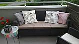 Набор садовой мебели Corfu Love Seat Max Brown ( коричневый ) из искусственного ротанга ( Allibert by Keter ), фото 9