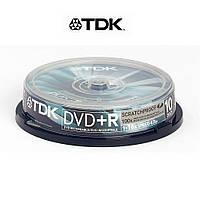 Диск TDK DVD+R 4,7Gb 16x Cake 10 pcs ScratchProof