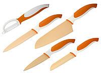 88681 Набор ножей (5 пр.), оранжевый Granchio