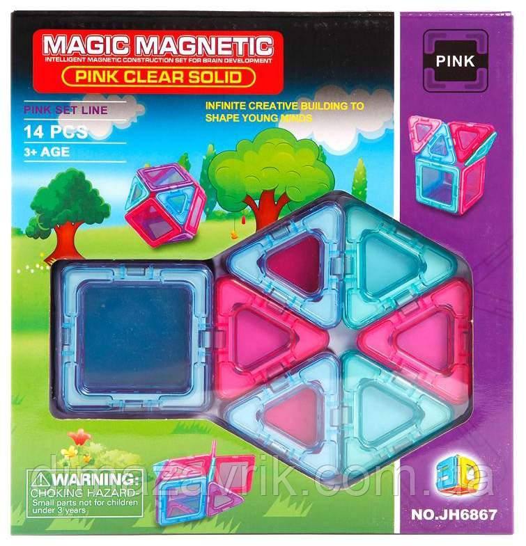 КонструкторJH6867 магнитный14 деталей