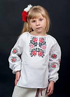 Вышиванка детская для девочки, машинная вышивка