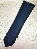 (50cm)Длинные трикотаж с кожа женские перчатки только оптом, фото 4