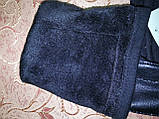 (50cm)Длинные трикотаж с кожа женские перчатки только оптом, фото 5