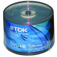 Диск TDK DVD+R 4,7Gb 16x Cake 50 pcs