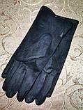 Замш женские перчатки стильные только опт, фото 4