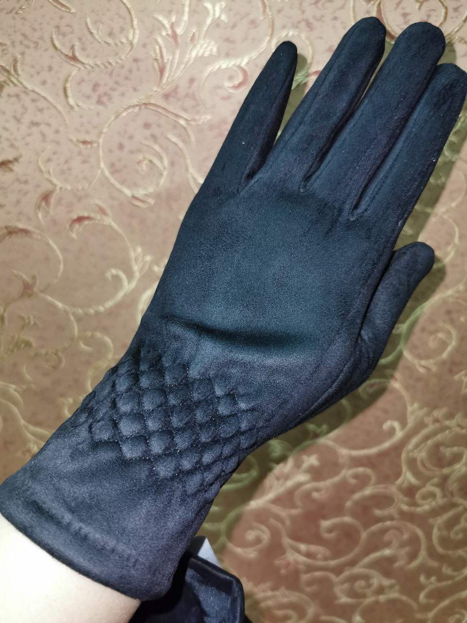 Замш женские перчатки стильные только опт