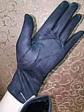 Замш женские перчатки стильные только опт, фото 5