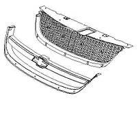 Решетка радиатора Chevrolet Lacetti 03- Седан, хром рамка (FPS) Решетка FP 1704 995
