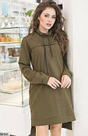 Женское спортивное платье толстовка ткань двунитка скл.1 арт. 58191
