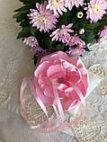 Свадебная подушка для колец с розовым цветком hand made, фото 2