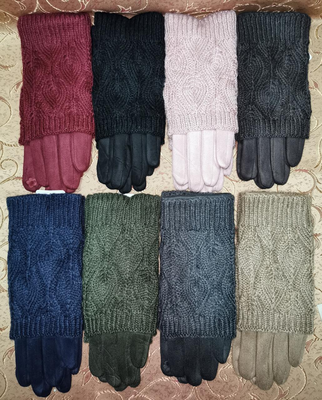 Вязание шерсти с Замш женские перчатки с сенсором для работы на телефоне плоншете оптом