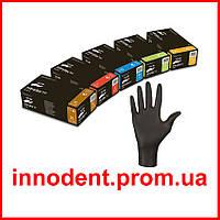 """Перчатки нитриловые Nitrylex Black """"М"""" (Нитрилекс) черные, неопудренные, текстурированные 100 шт/уп"""