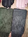 Вязание шерсти с Замш женские перчатки с сенсором для работы на телефоне плоншете оптом, фото 2