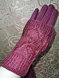 Вязание шерсти с Замш женские перчатки с сенсором для работы на телефоне плоншете оптом, фото 4