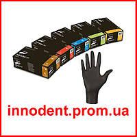 """Перчатки нитриловые Nitrylex Black """"L"""" (Нитрилекс) черные, неопудренные, текстурированные 100 шт/уп"""