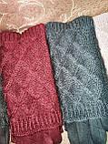 Вязание шерсти с Замш женские перчатки с сенсором для работы на телефоне плоншете оптом, фото 3