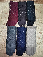 Сенсорны вязание шерсти трикотаж женские перчатки для работы на телефоне плоншете Anna-мода оптом, фото 1