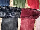 Детские замш  перчатки с мех на манжете подростковые (от 3-х до 15лет)стильные только оптом, фото 2