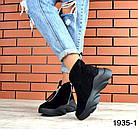 Женские ботинки в черном цвете, из натуральной замши (в наличии и под заказ 3-14 дней), фото 2