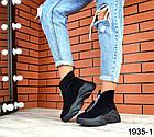 Женские ботинки в черном цвете, из натуральной замши (в наличии и под заказ 3-14 дней), фото 3