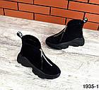 Женские ботинки в черном цвете, из натуральной замши (в наличии и под заказ 3-14 дней), фото 4
