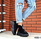 Женские ботинки в черном цвете, из натуральной замши (в наличии и под заказ 3-14 дней), фото 5