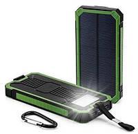 Solar power bank Противоударный, 10000мАч, Зеленый
