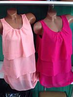 Красивая шифоновая блузка со складками, фото 1