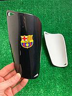 Щитки для футбола  Барселона черные 1093(реплика)