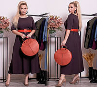 Платье большого размера / костюмная ткань / Украина 17-1280, фото 1