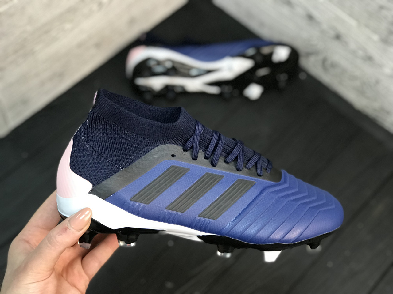 Бутсы Adidas Predator 18+FG/адидас предатор (реплика)