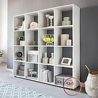 Полка для книг, стеллаж для дома 16 ячеек. ДСП. P0011