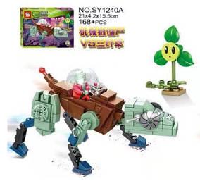 Конструктор Senco SY1240 Растения против Зомби (Plants vs. Zombies) 4 вида SY1240A