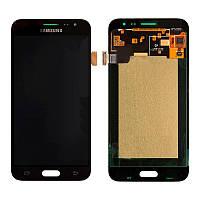 Дисплейный модуль (LCD + touch) Samsung J320H/ J3-2016 черный Copy