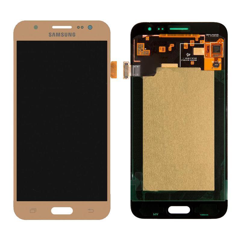 Дисплей и сенсор (модуль) на Samsung J500H, J5 золотой