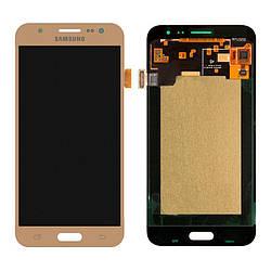 Дисплейный модуль (LCD + touch) Samsung J500H/ J5 золотой Copy