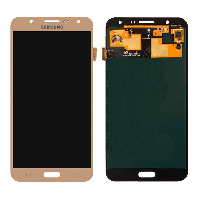 Дисплейный модуль (LCD + touch) Samsung J700H/ J7 золотой Copy