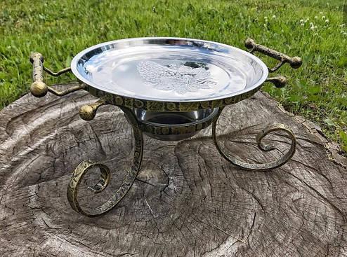 """Кованный садж для подачи шашлыков """"Роял"""", с крышкой, фото 2"""