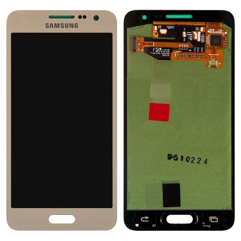 Дисплей Samsung A300 (A3) с золотым сенсором