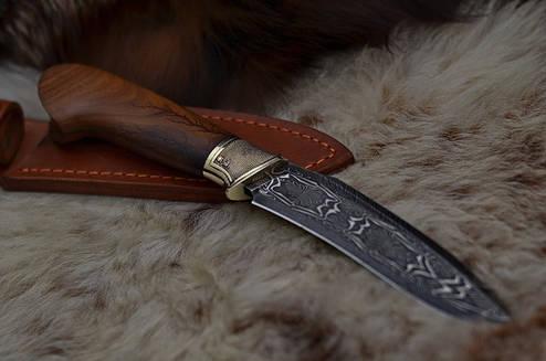 """Коллекционный нож ручной работы с мозаичным дамаском """"Защитник"""", фото 2"""