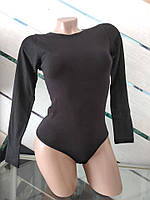 Женское боди с длинным рукавом хлопок TM Berrak Турция черный