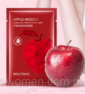 Маска для лица Bisutang Apple Muscle с экстрактом красного яблока 25 g