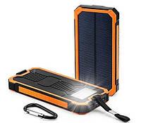 Solar power bank Противоударный, 10000мАч, Оранжевый