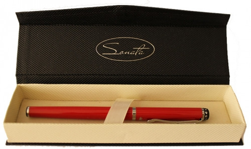 "Ручка подарочная роллер ""Sonata"" со стразом на клипе"
