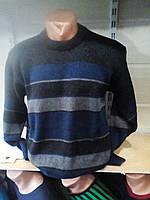 Мужской теплый свитер в полоску 50-54рр