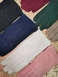 Трикотаж  с сенсором женские перчатки для работы на телефоне плоншете (только ОПТ), фото 2