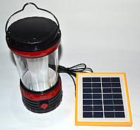 Фонарик лампа Yajia YJ- 5835 DT с солнечной панелью и USB, фото 1