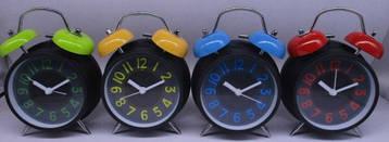 Часы-будильник металлические диаметр 10 см