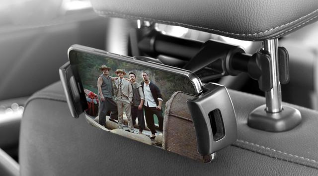 Держатель для планшета в авто с креплением на подголовник iMount 39HD90 JHD-192 Backseat Черно-красный