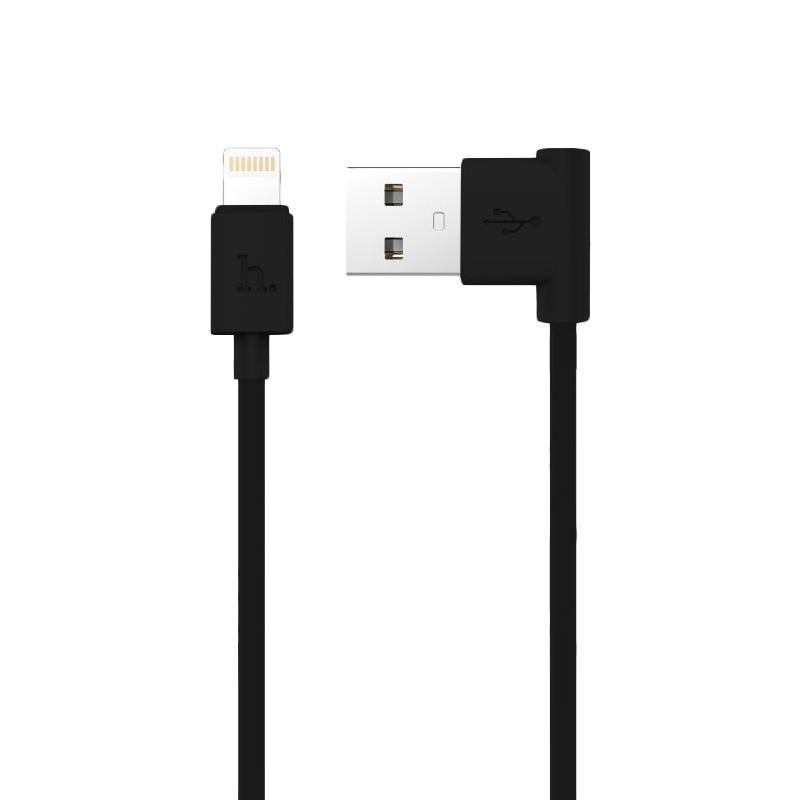 USB Cable Hoco UPL11 iPhone 6 (L Shape) Black 1.2 m